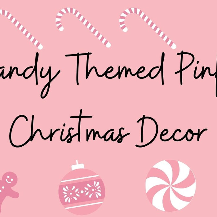Candy Themed Pink Christmas Decor