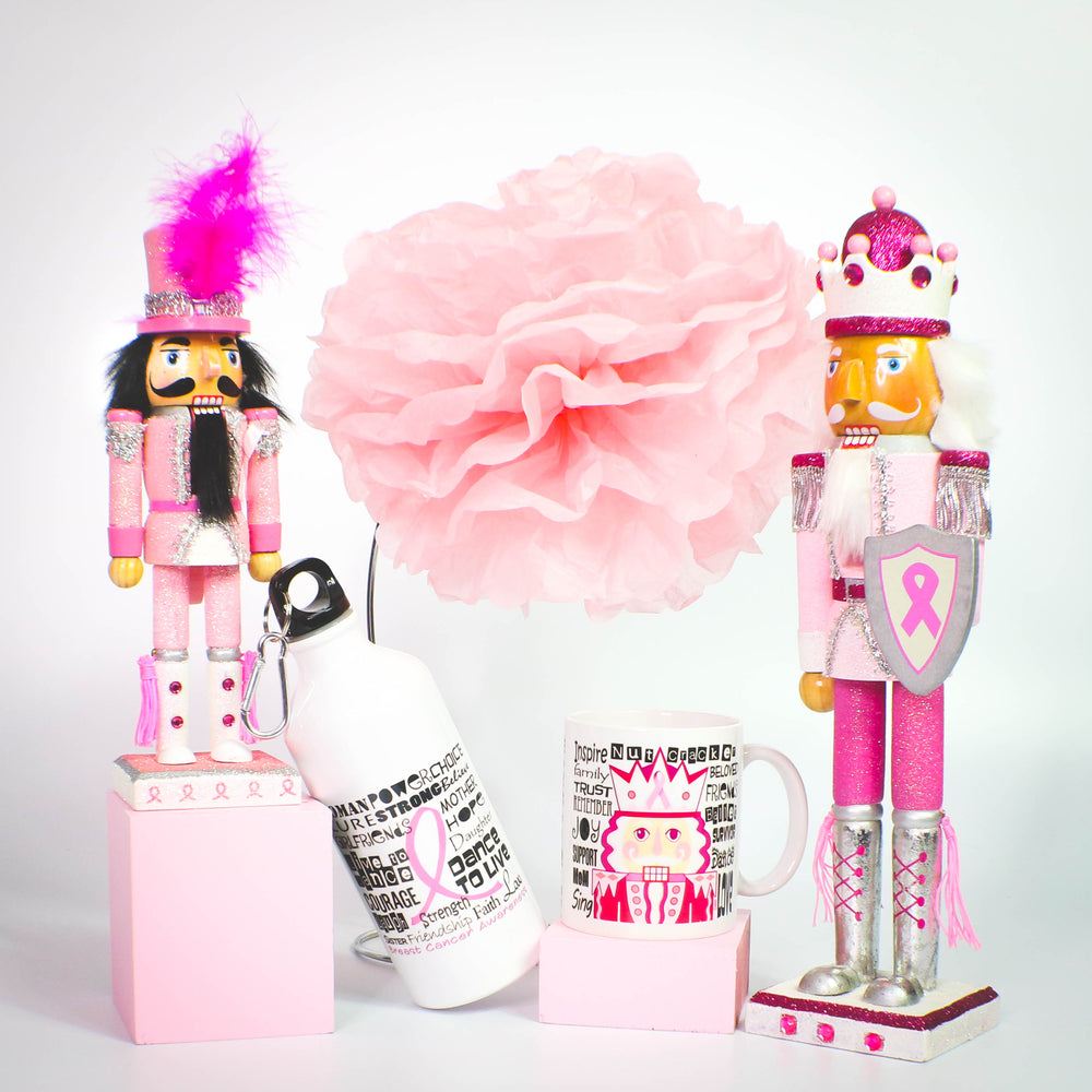 Breast Cancer Awareness and Support Nutcrackers