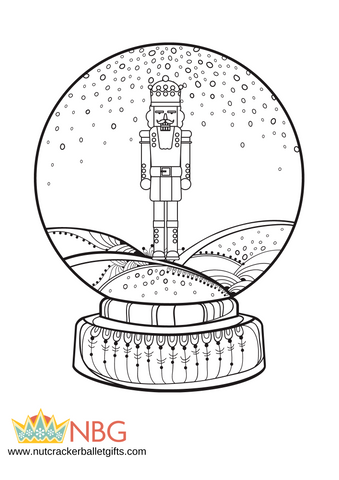 Snow Globe Color Sheet