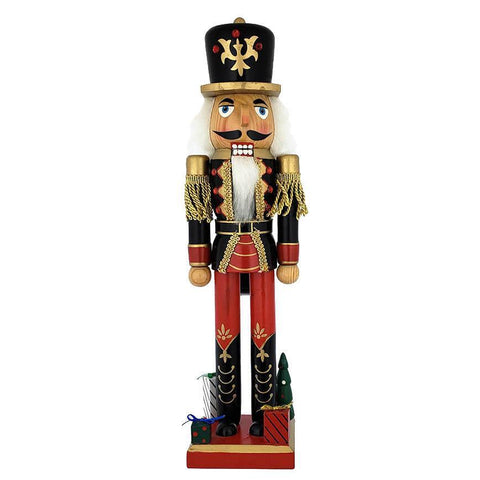 Red and Black Wooden Nutcracker