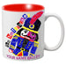 MG102: Nutcracker Ballet Mug - Slanted Nutcracker - Nutcracker Ballet Gifts