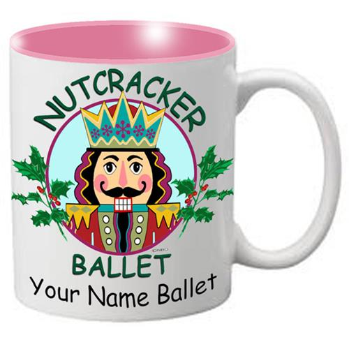 Nutcracker Ballet Mug - Nutcracker with Holly - Nutcracker Ballet Gifts