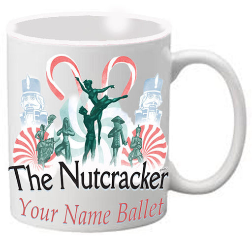 Nutcracker Ballet Mug - Nutcracker with Candy Canes - Nutcracker Ballet Gifts