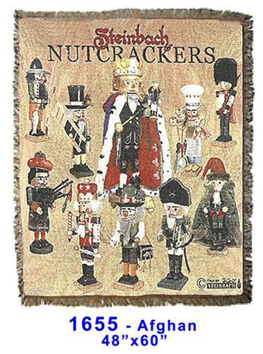 Steinbach Nutcracker Blanket - 100% Cotton - Nutcracker Ballet Gifts