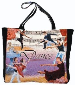 Dance Tapestry Printed Trendy and Unique Tote Ballet Bag - Nutcracker Ballet Gifts