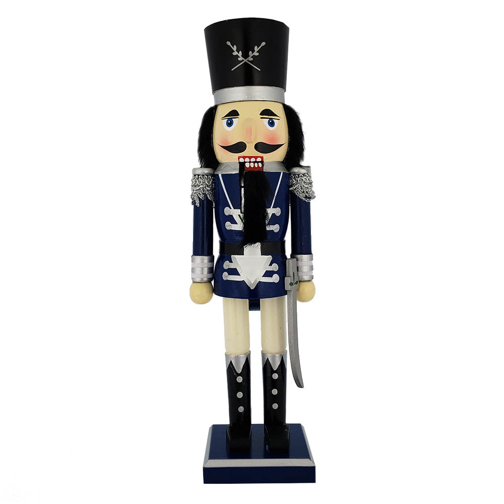 Traditional Soldier Nutcracker Blue Jacket and Sword 15 ...