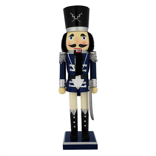 Traditional Soldier Nutcracker Blue Jacket and Sword 15 inch - Nutcracker Ballet Gifts