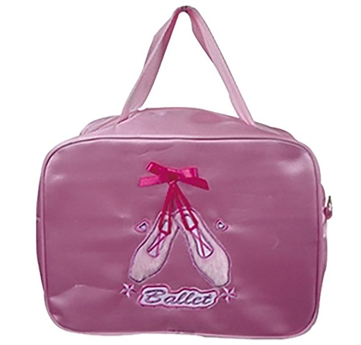 Lively Pink Pointe Shoes on Satin Dance Ballet Bag - Nutcracker Ballet Gifts