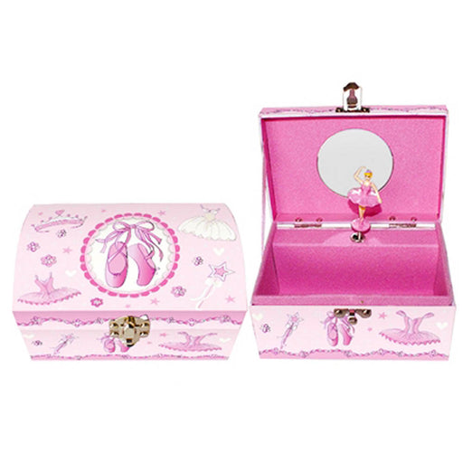Pink Rectangle Ballerina Musical Jewelry Box - Nutcracker Ballet Gifts