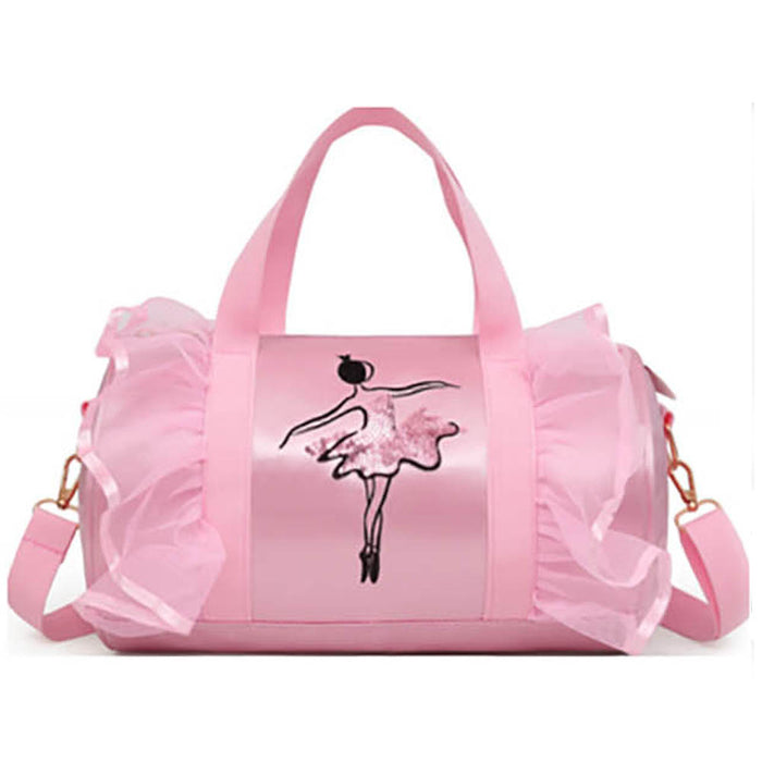 Pink Ballerina Satin and Lace Duffle - Nutcracker Ballet Gifts
