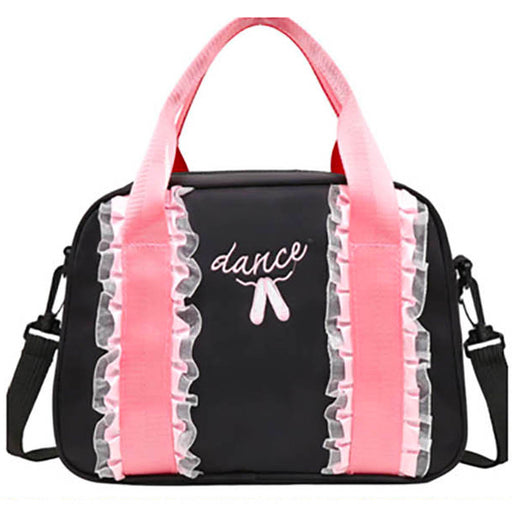 Black and Pink Lace Dance Bag - Nutcracker Ballet Gifts