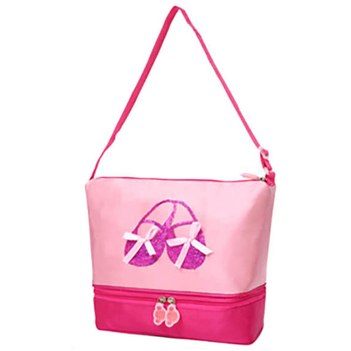 Pink Two Tone Tote with Purple Ballet Shoes - Nutcracker Ballet Gifts