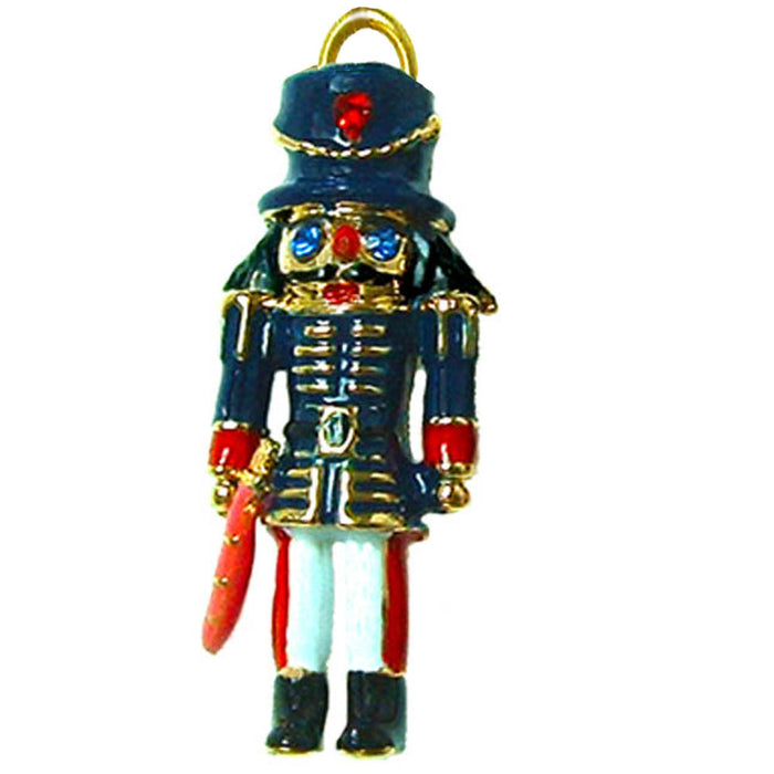 Enamel Nutcracker Soldier Charm for Bracelet - Nutcracker Ballet Gifts