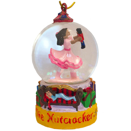 Mini African American Clara Snow Globe Ornament - Nutcracker Ballet Gifts