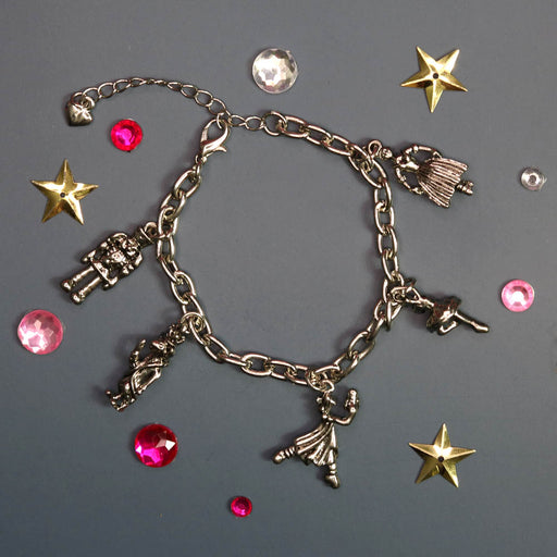 Nutcracker Characters Five Charms in Silver Charm Bracelet - Nutcracker Ballet Gifts
