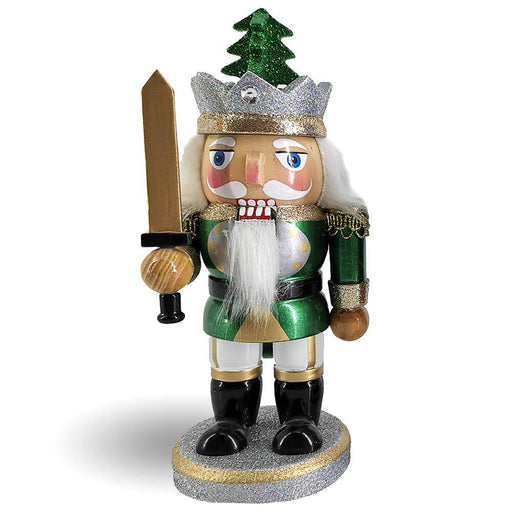 Chubby King Nutcracker in Green and Gold - Nutcracker Ballet Gifts