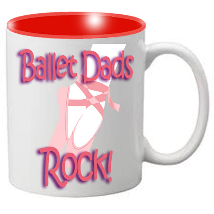 Nutcracker Ballet Mug - DadRock - Father's Day Mug with Dancer - Nutcracker Ballet Gifts