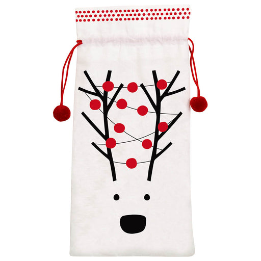 Christmas Bottle Bag with Reindeer Face-Nutcracker Ballet Gifts