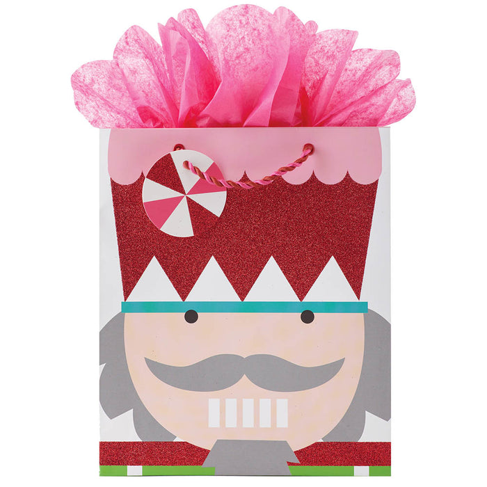 Christmas Nutcracker Sweet Gift Bag with Pink Tissue-Nutcracker Ballet Gifts
