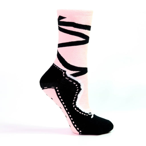 Pink and Black Pointe Slipper Heavy Weight Sock - Nutcracker Ballet Gifts