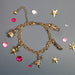 Nutcracker Characters Five Charms in Gold Charm Bracelet - Nutcracker Ballet Gifts