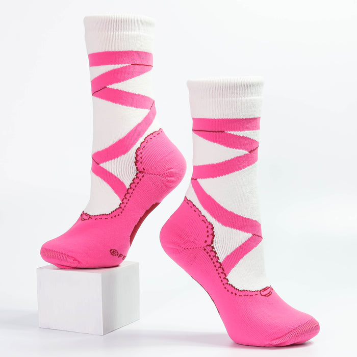 Pink Pointe Slipper Heavy Weight Sock - Nutcracker Ballet Gifts