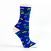 Nutcracker Suite Ballet Character Names Blue Purple Green Sock - Nutcracker Ballet Gifts