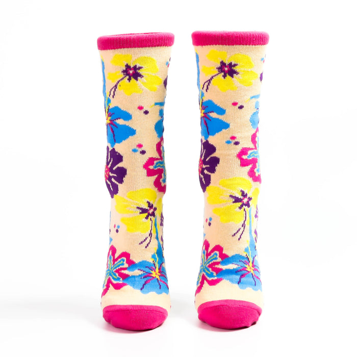 Multicolor Flower Sock with Dancers - Nutcracker Ballet Gifts
