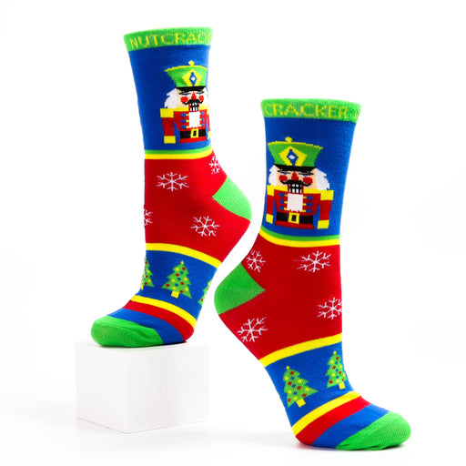 Multicolor Christmas Nutcracker Light Weight Sock - Nutcracker Ballet Gifts