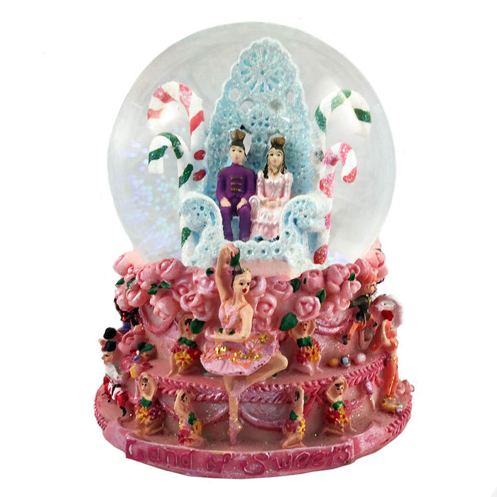 Musical Land of Sweets Snow Globe Dance of Sugar Plum Fairy-Nutcracker Ballet Gifts