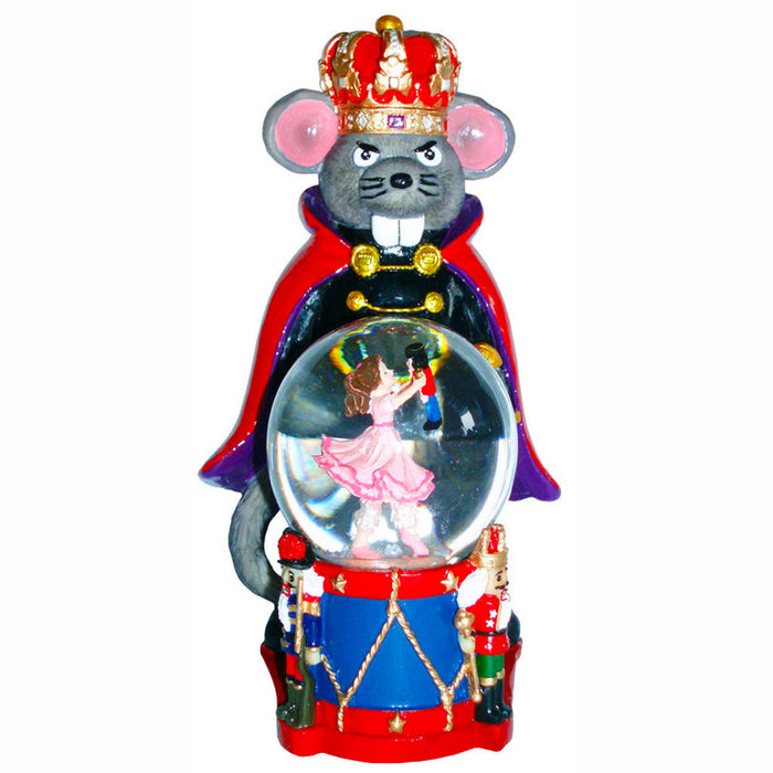 Mouse King Figurine with Clara Mini Snow Globe - Nutcracker Ballet Gifts