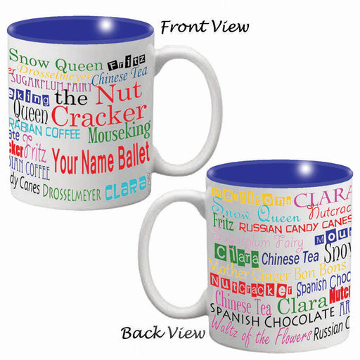 Nutcracker Ballet Mug - Character Names Full Wrap - Nutcracker Ballet Gifts