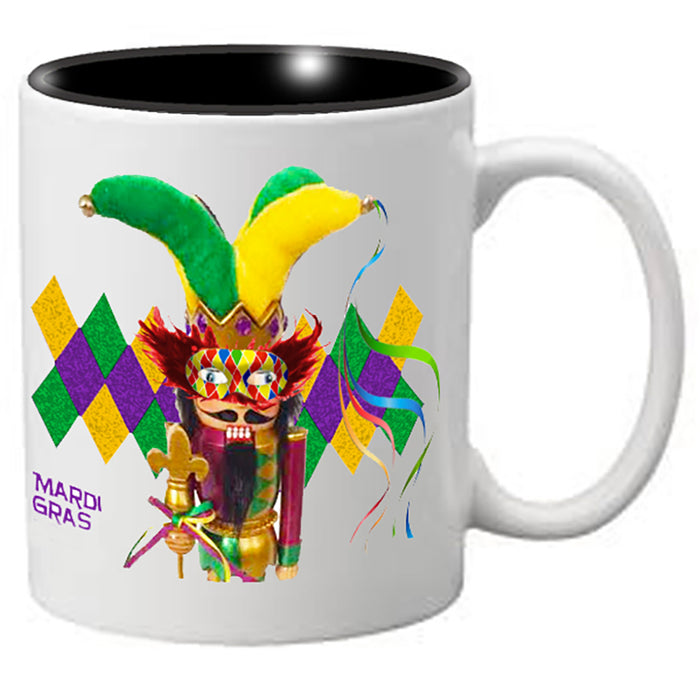 Nutcracker Ballet Mug - Mardigras2 - Jester Nutcracker on Diamond background - Nutcracker Ballet Gifts