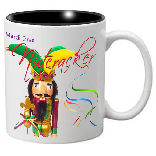 Nutcracker Ballet Mug - Mardigras5 - Fun Jester Nutcracker with words - Nutcracker Ballet Gifts