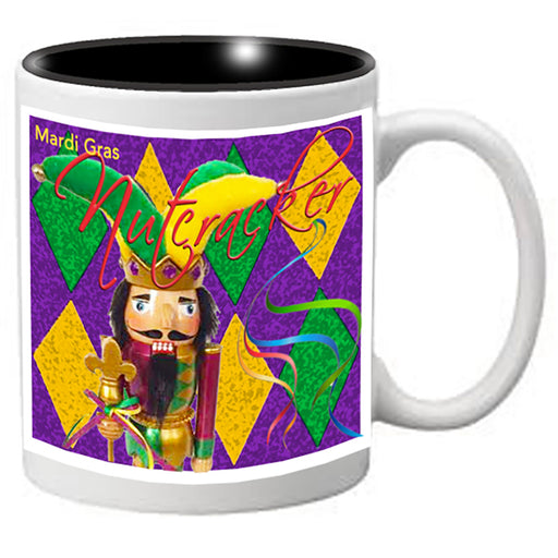 Nutcracker Ballet Mug - Mardigras6 - Nutcracker jester with diamond background - Nutcracker Ballet Gifts