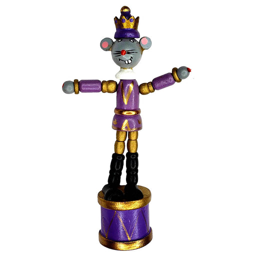 Mouse King Push Puppet Nutcracker Ornament 5 inch - Nutcracker Ballet Gifts