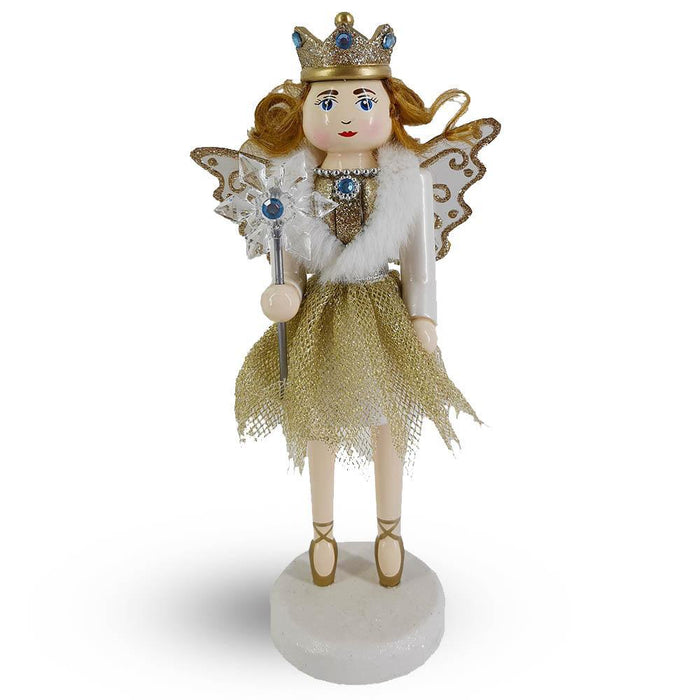Angel Fairy Female Nutcracker with sparkly wings 10 inch - Nutcracker Ballet Gifts