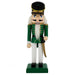 Traditional Soldier Nutcracker Green White Black Hat 10 inch - Nutcracker Ballet Gifts