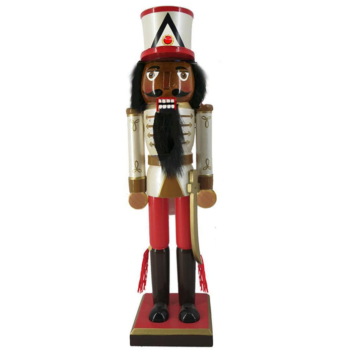 African American Soldier Nutcracker Sword and Hat 10 Inch - Nutcracker Ballet Gifts