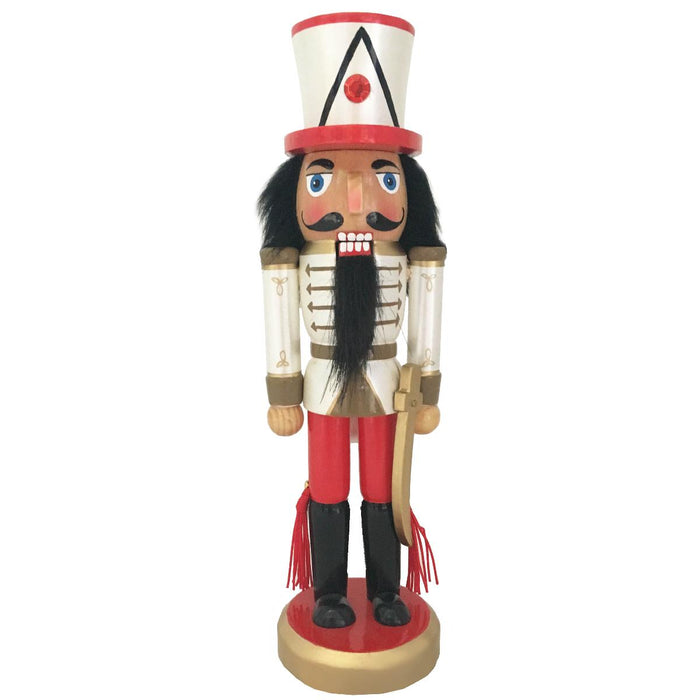 Soldier Nutcracker Red White Gold and Sword 10 inch - Nutcracker Ballet Gifts