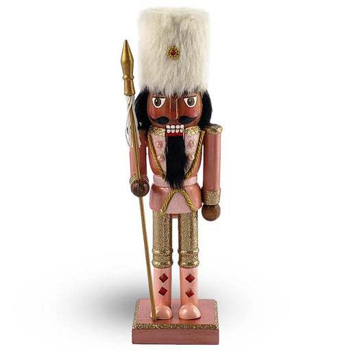 African American Soldier Nutcracker Rose Gold with Hat 10 Inch - Nutcracker Ballet Gifts