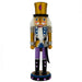 Soldier Nutcracker Gold Purple and Black Sword 10 inch-Nutcracker Ballet Gifts