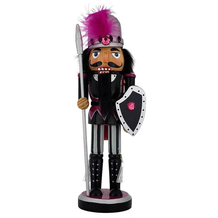 Knight Nutcracker Black Purple Costume and Shield 10 inch - Nutcracker Ballet Gifts