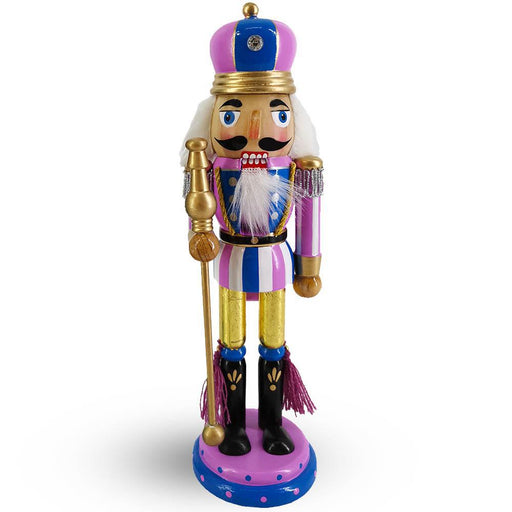 King Nutcracker Lavender and blue  and Crown 10 inch - Nutcracker Ballet Gifts