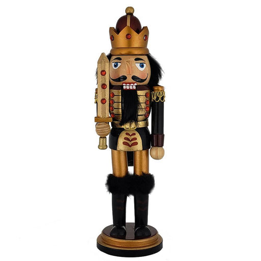 King Nutcracker Copper Gold Metallic with Sword 10 inch - Nutcracker Ballet Gifts