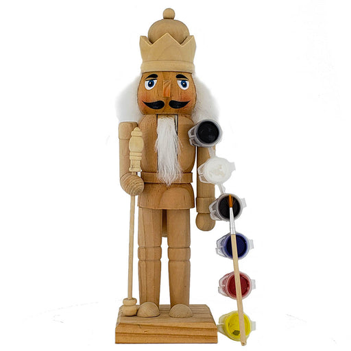 Unpainted DIY Nutcracker with 6 Colors Paint Kit And Brush 10 inch - Nutcracker Ballet Gifts