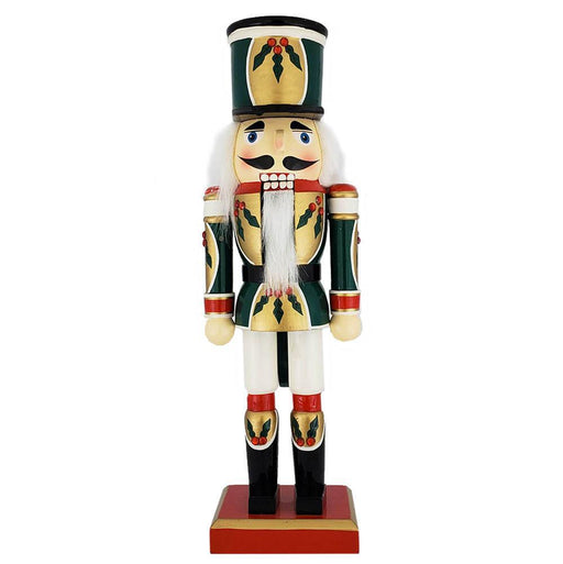 Christmas Holly Nutcracker Green Red White 12 inch - Nutcracker Ballet Gifts