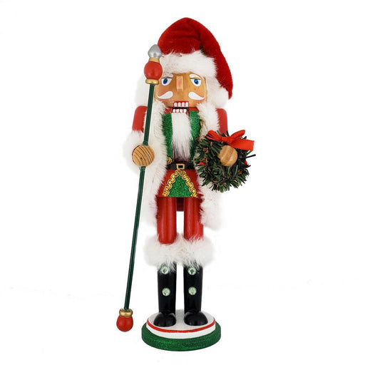 Christmas Santa Nutcracker Red White with Wreath 12 inch - Nutcracker Ballet Gifts
