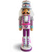 Candy Cane Nutcracker Pink and Teal with Cake Hat 12 inch - Nutcracker Ballet Gifts