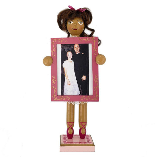 African American Clara Nutcracker with Picture Frame 12 inch - Nutcracker Ballet Gifts